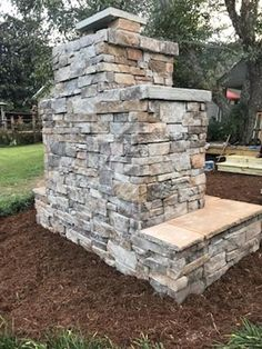 Want to see an amazing outdoor fireplace built entirely by a DIY homeowner? Read about the work this Georgia homeowner put into this gorgeous Pima II fireplace. He used a DIY construction plan and didn't have to guess how to build it. Backyard Patio Designs, Backyard Landscaping, Patio Ideas, Backyard Ideas, Fireplace Hearth, Fireplace Design, Build Outdoor Fireplace, Garden Buildings, Fire Pit Backyard