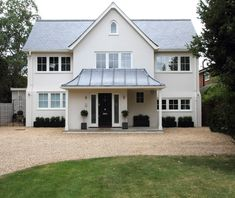 This Tring, Hertfordshire home has a new traditional gabled front with a feature porch, gives no hints to the clean, sleek and modern living space within.