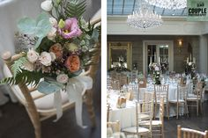 The dining room with colourfull flowers. Weddings at Tankardstown House by Couple Photography. Wedding Table Decorations, Couple Photography, Dining Room, Weddings, Couples, Flowers, House, Furniture, Home Decor