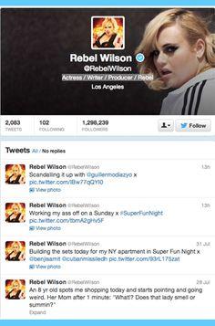11 Celebrities to Follow on Twitter: Rebel Wilson.