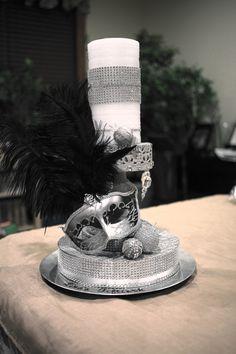 50 Shades of Grey Party Idea Centerpiece