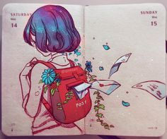 Letters from no one A thing I might turn into a full watercolour someday. by qinniart