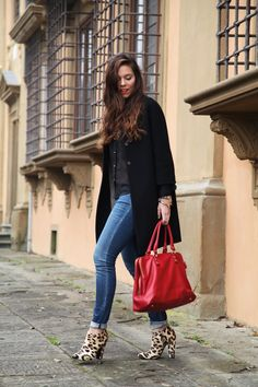 Outfit: Coat Anye By | Shirt Asos | Jeans Geox ! Bag Baldinini | Shoes Giuseppe Zanotti | Make up Dior  www.ireneccloset.com