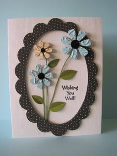 Chipboard Wishes by lisaadd - Cards and Paper Crafts at Splitcoaststampers Embossed Cards, Get Well Cards, Card Making Inspiration, Copics, Paper Cards, Flower Cards, Creative Cards, Greeting Cards Handmade, Scrapbook Cards