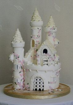 girls fairy princess castle birthday cake childrens and adults novelty ...348 x 500 | 30.8 KB | www.red-grey.co.uk