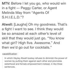 Hayley Atwell for the win