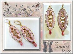 """""""Corseterie"""" avec les Arcos®par Puca® Opaque Light Rose Ceramic look et Minos®par Puca® Light Gold Mat"""