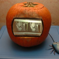 Pumpkin monitor just in time for Halloween
