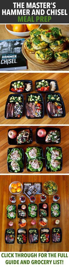 How to Meal Prep for The Master's Hammer and Chisel