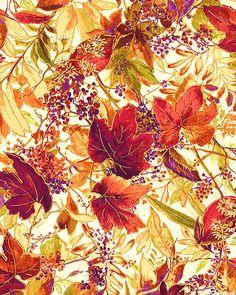 Autumn Spice Metallic - Thanksgiving Nostalgia - Ivory/Gold