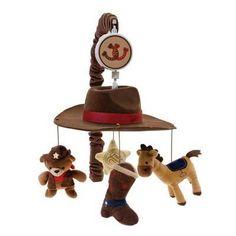 cowboy themed nursery for boy | ... & Horses Cowboy Western Themed Baby Boy Nursery Crib Musical Mobile