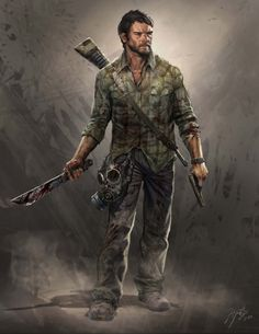 Joel is the primary playable character and the protagonist of The Last of Us. Joel is a ruthless survivor of the cordyceps brain infection, which has nearly destroyed mankind. He is voiced and mo-capped by Troy Baker. Concept Art World, Game Concept Art, Environment Concept Art, Character Concept, Character Art, Character Creation, Post Apocalypse, Apocalypse Survivor, Last Of Us