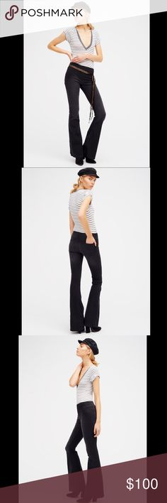 FREE PEOPLE pull on flare Classic Free People pull-on flare jeans featured in a clean silhouette flare with a slight stretch. Back pockets and back knee seam detailing. This mid-rise style has an elastic waistband for an easy fit. 112139  Retail: $78 Size: 24, 27, 28,  ❤I have over 300 new with tag Free People items for sale! I love to offer bundle discounts!  ❤No trades. love the item but not the price? Submit an offer! Free People Jeans Flare & Wide Leg