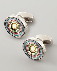 Swivel-Ring Cuff Links by Tateossian at Neiman Marcus.