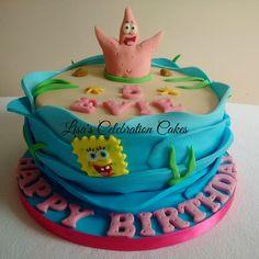 """8"""" Patrick Star from Sponge Bob Squarepants themed cake."""