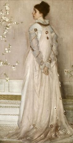 tea gown  James Abbott McNeill Whistler, Symphony in Flesh Colour and Pink: Portrait of Mrs Frances Leyland, 1871-1874, 1871-1874