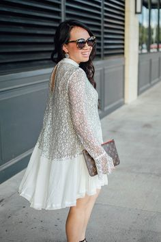 white lace dress for the holidays