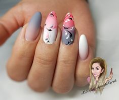 If you have been thinking about getting almond shaped nails done, make sure you have a perfect design! We have a pick of 40 almond nails for you! Elegant Nail Designs, Cool Nail Designs, Almond Shape Nails, Almond Nails, Trendy Nails, Cute Nails, Acrylic Nails, Shellac Nails, Airbrush Nails