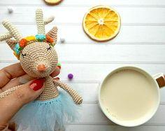 Gentle Cute Deer amigurumi toy