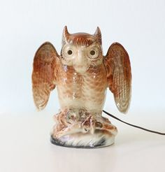 Vintage Owl Lamp by Kron for Texans by bellalulu on Etsy, $64.00