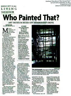 Art Museum Kicks Off Membership Drive  -Southwest Times Record, 9/23/2012