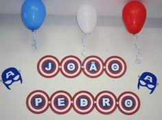Bandeirola  Tema: Capitão América
