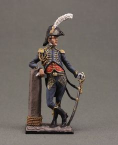 Officer of the battalion sailors of the Imperial Guard. France, 1807-11.