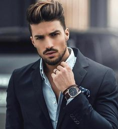 Style de: Mariano Di Vaio Aimez-vous son style Oui ou Non . Laissez votre com . Mens Hair Colour, Cool Hair Color, Quiff Hairstyles, Trendy Hairstyles, Wedding Hairstyles, Hair Wax For Men, Men Hair Dye, Medium Brown Hair Color, Hair And Beard Styles