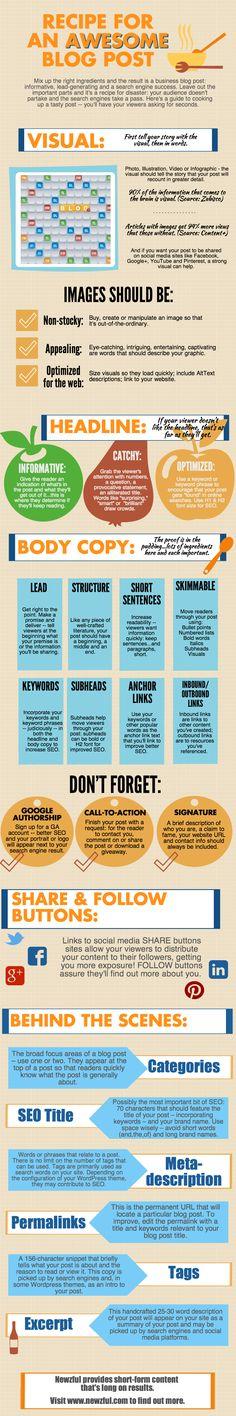 [Infographic] Het recept voor een goede blog - via 42bis.nl