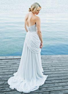 Pretty blue bridesmaid dress