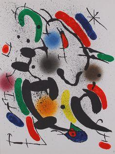 Joan Miró - Lote de 12 artículos: Litografia Original I - X