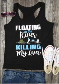 34a71b6d3d6 Floating on the River Killing My Liver Tank Funky Fashion