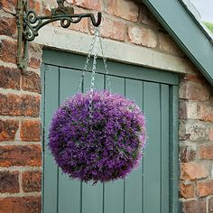 Pink Heather Effect Topiary Ball - these are maintenance free and look lovely all year round!