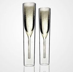 CHAMPAGNE | Charleyworks.com double walled champagne glasses