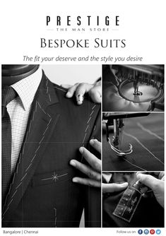 A #suit is a big and very important investment every man makes, so we are here to make it easier for you. Enviable fit and stylish designs - our expert craftsmen will deliver all this and more. So walk into #PrestigeTheManStore and get fitted today.