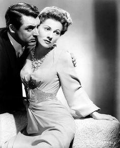 """archibaldalexanderleach: """"  Cary Grant & Joan Fontaine, Suspicion (1941). """""""