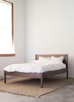 Solid Walnut Bed via Etsy.