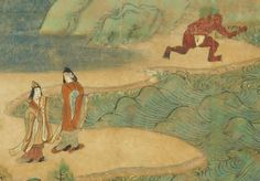 Illustrated sutra of The Miracles of Kannon, Kamakura period dated 1257 Unidentified artist Japan Handscroll; ink, color, and gold on paper; x 30 ft. History For Kids, Art History, Kamakura Period, Lotus Sutra, History Tattoos, Korean Art, Japan Art, Elements Of Art, Metropolitan Museum