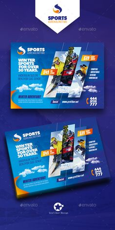 Winter Adventure Flyer Template PSD, InDesign INDD