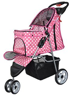 VIVO-Three-Wheel-Pet-Stroller-for-Cat-Dog-and-More-Foldable-Carrier-Strolling