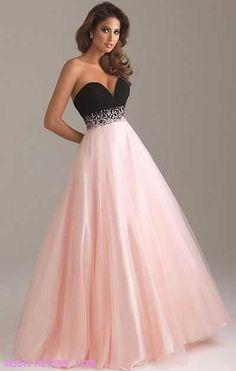 vestido rosa y negro