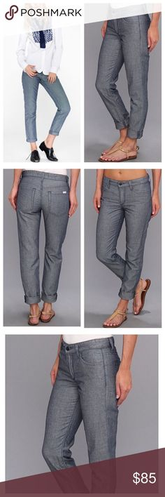 JOE'S JEANS - WEEKEND COLLECTION JOE'S Weekend Collection in Ocean is the perfect 5-pocket pant in an easy slim fit. It features a lightweight fabric for fashion and comfort you'll covet all season. This is a warm weather denim alternative and staple item for any traveler or fashionista.   69% Cotton, 31% Linen.  Approx measurements; 16 Waist, 9-1/2 Rise, 30 Inseam,   (Cover shot truest color) Joe's Jeans Jeans