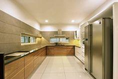 Prakruti Residence – a+t associates Modular Kitchen Indian, Kitchen Modular, Modern Kitchen Cabinets, Kitchen Dinning, Kitchen Interior, Home Room Design, Bed Design, House Design, Kitchen Design Open