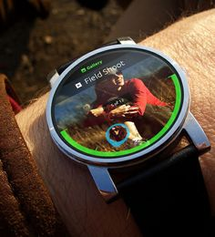 Android Wear Photo Gallery UI #androidwear #googleos #moto360 #smartwatch #uidesign #concepts #iwatch