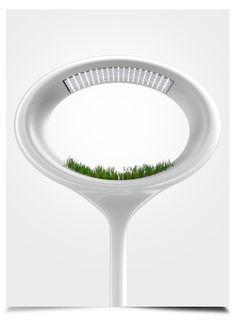 The Grass Lamp by Marko Vuckovic, via Behance