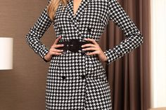 Rochie PrettyGirl neagra office midi tip sacou din stofa cu maneci lungi Wrap Dress, Dresses, Fashion, Gowns, Moda, Fashion Styles, Wrap Dresses, Dress, Vestidos