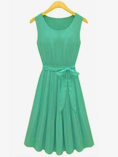 Zanzea@ Sleeveless Chiffon Casual Dress I love how simple yet elegant the color is perfect