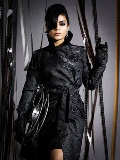 Vanessa Hudgens wearing leather gloves