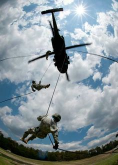 Blackhawk Repelling Exercise