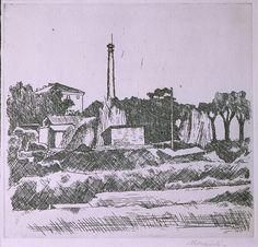 Giorgio Morandi, Landscape with Chimney, Outskirts of Bologna
